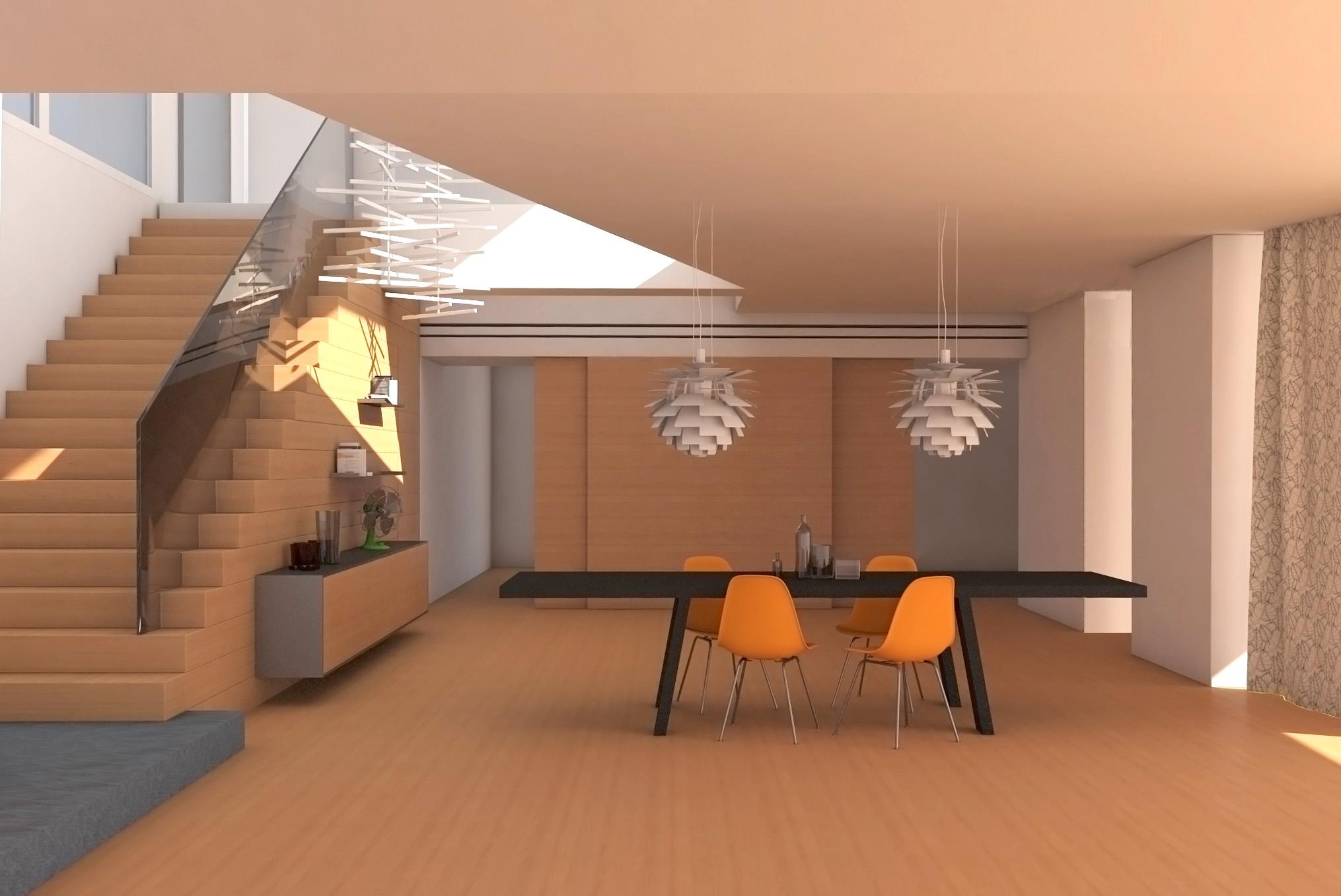 Soggiorno scala a vista idee per il design della casa - Scala soggiorno ...